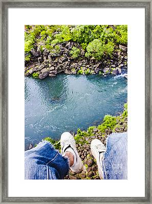 First Person View Riding The Tasmanian Chairlift Framed Print