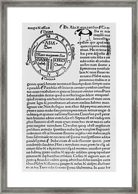 First Printed Map, 1472 Framed Print by Granger