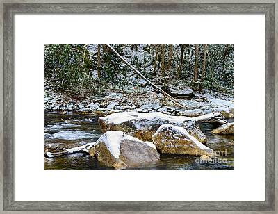 First Snow Cranberry River Framed Print by Thomas R Fletcher