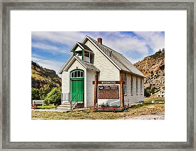 First Washakie County Church Framed Print by Cathy Anderson