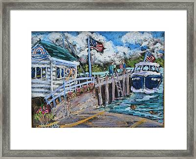 Fish Creek Boat Launch Framed Print by Madonna Siles