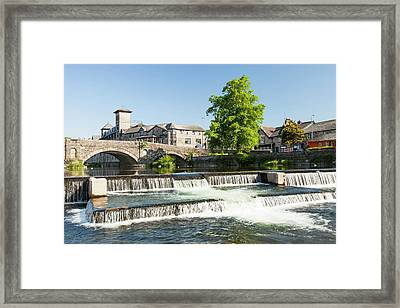 Fish Ladder In A Weir Framed Print