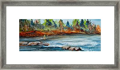 Fish On Framed Print