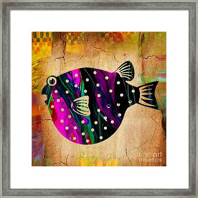 Fish Plaque Framed Print by Marvin Blaine
