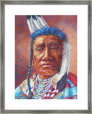 Fish Shows Native Am. Indian Framed Print
