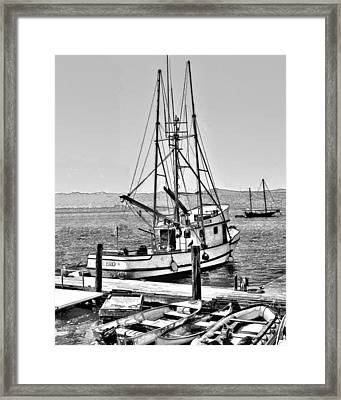 Fishing Boat Aquero Framed Print
