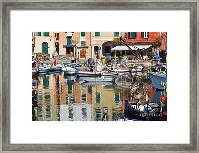 fishing boats in Camogli  Framed Print