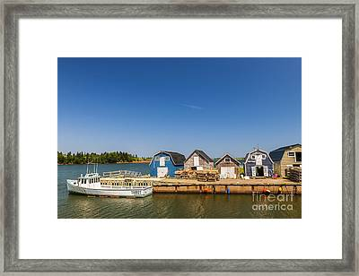 Fishing Dock In Prince Edward Island  Framed Print by Elena Elisseeva