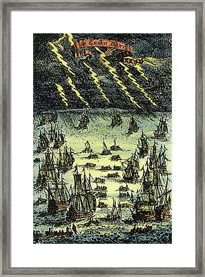 Fishing Fleet, 1683 Framed Print by Granger