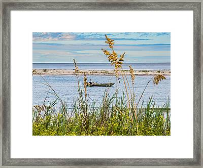 Fishing In Pawleys Island Inlet Framed Print