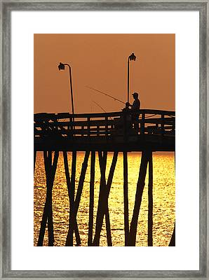Fishing Pier At Rodanthe, North Framed Print by Steve Winter
