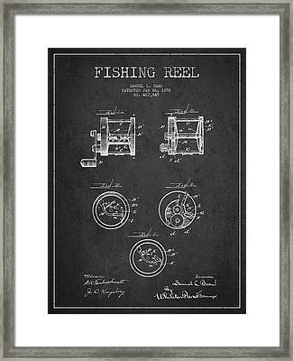 Fishing Reel Patent From 1892 Framed Print by Aged Pixel