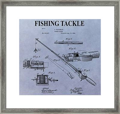 Fishing Tackle Patent Framed Print