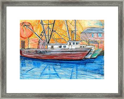 Fishing Trawler Framed Print