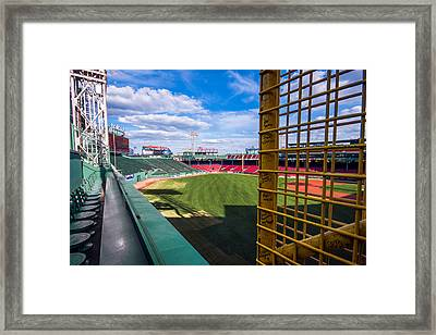 Fisk's Pole And The Green Monster Framed Print