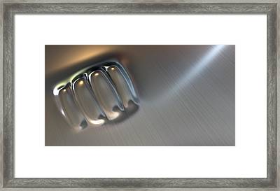 Fist Punched Metal Framed Print