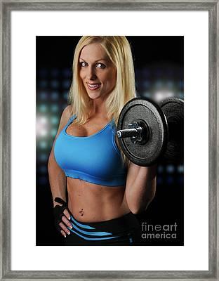 Fitness Model Framed Print by Jt PhotoDesign