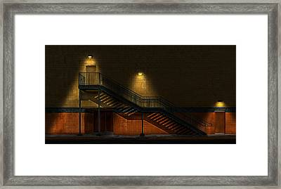 Shadowy Staircase Framed Print