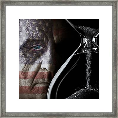 Flag Face Framed Print by Pro Shutterblade