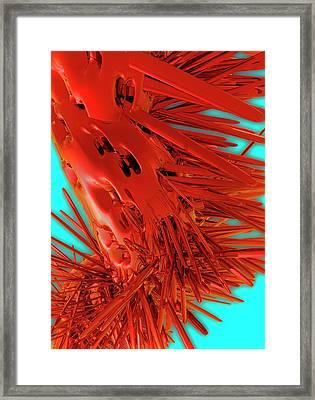 Flagella Virus Framed Print by Victor Habbick Visions