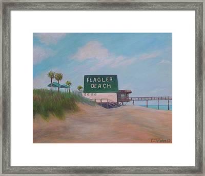 Flagler Beach Florida Framed Print
