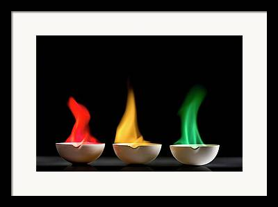 Flame Test Framed Prints