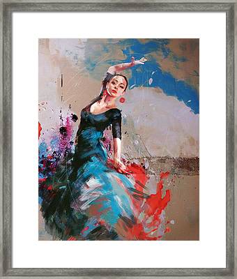 Flamenco 41 Framed Print by Maryam Mughal