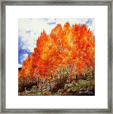 Flaming Aspens 2 Framed Print