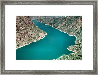 Flaming Gorge National Recreation Area In Utah Framed Print