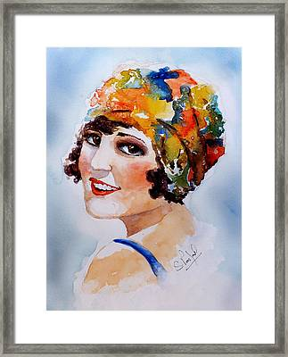 Framed Print featuring the painting Flappers Girl by Steven Ponsford