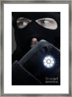 Flashlight Fugitive Framed Print