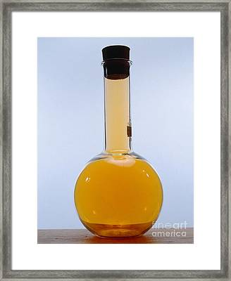 Flask Of Bromine Framed Print by Andrew Lambert Photography