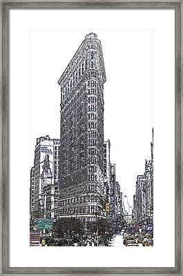 Flat Iron Building Framed Print by Frank Garciarubio