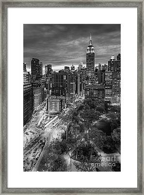 Flatiron District Birds Eye View Framed Print by Susan Candelario