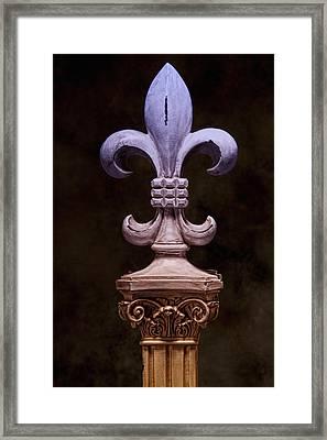 Fleur De Lis Iv Framed Print by Tom Mc Nemar