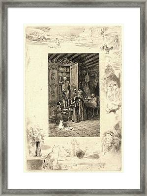 Félix Hilaire Buhot French Framed Print by Litz Collection