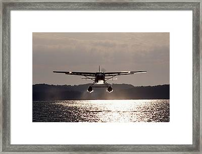 Float Plane Takes Off. Framed Print by Paul Chauncey
