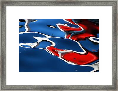 Floating On Blue 5 Framed Print by Wendy Wilton