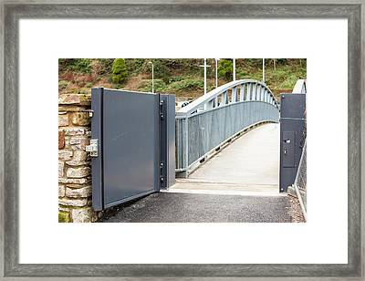 Flood Defences In Cockermouth Framed Print