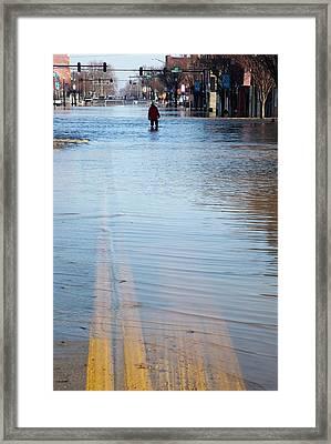 Flooded Street Framed Print by Jim West