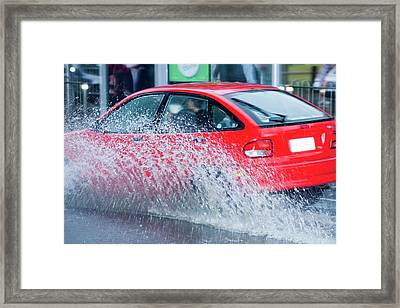 Flooding In Melbourne Framed Print by Ashley Cooper