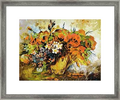 Floral 10 Framed Print by Mahnoor Shah