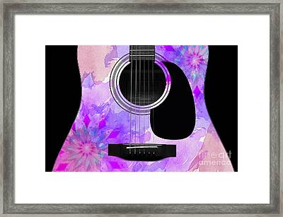 Floral Abstract Guitar 17 Framed Print