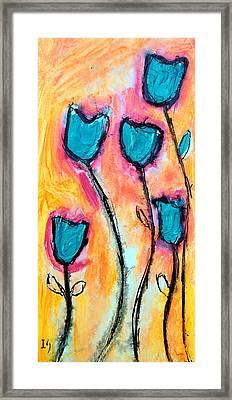 Floral Atardecer Framed Print