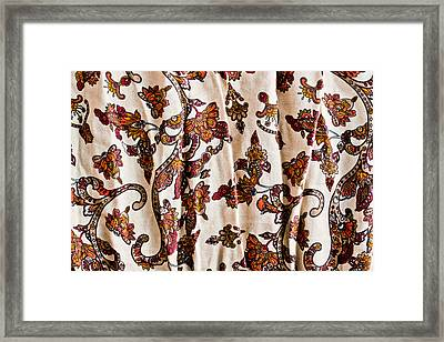 Floral Pattern Framed Print by Tom Gowanlock