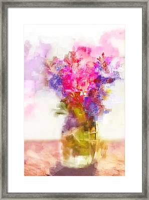 Framed Print featuring the painting Floral Still Life by Linde Townsend