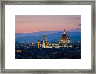 Florence At Sunset Framed Print