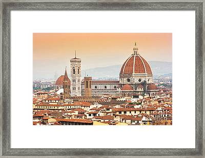 Florence Cathedral At Sunset Framed Print by JR Photography