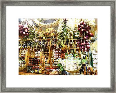 Florence Market Framed Print by Irina Sztukowski
