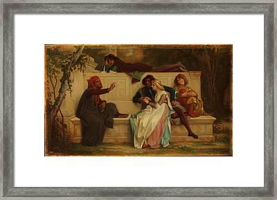 Florentine Poet Framed Print by Alexandre Cabanel